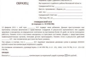 исковое заявление об истребовании документов образец
