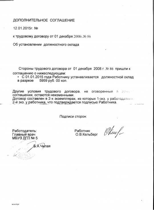 Образец Дополнительного Соглашения К Трудовому Договору О Смене Фамилии - фото 6
