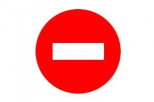 Проезд под знак Движение запрещено