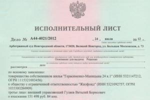 образец заявления об отзыве исполнительного документа