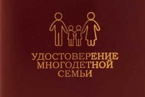 удостоверение многодетной матери