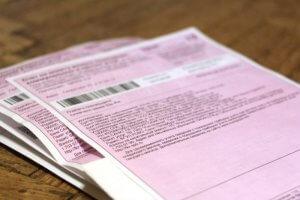 Розовый долговой квиток