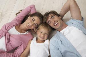 Мама, папа и ребенок