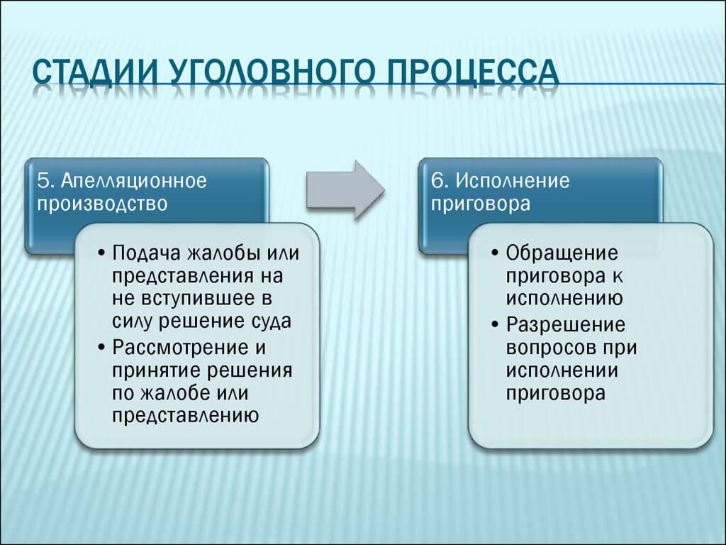 5 и 6 этап разбирательства