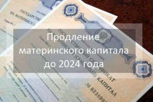 Продление материнского капитала до 2024 года