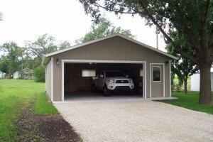 Изображение - Как продать гараж без документов 1-Panel-sided-Garage-24x24x8-155491-300x200