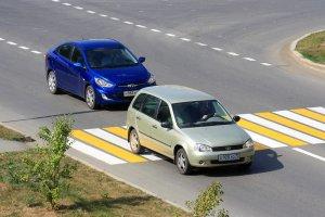 Автомобили на переходе