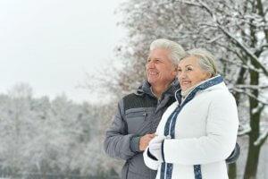 Пенсионеры зимой