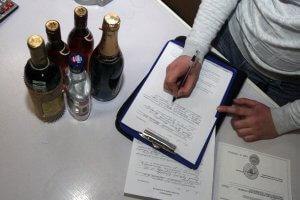 Изъятие алкоголя